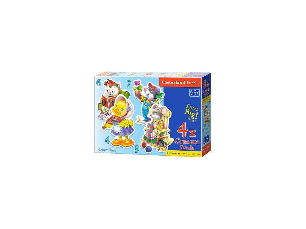 Castorland detské Maxi puzzle Koníčky 4v1 sada