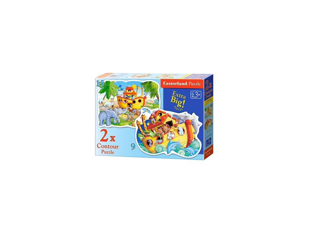 Castorland detské Maxi puzzle Noemova archa 2v1 sada