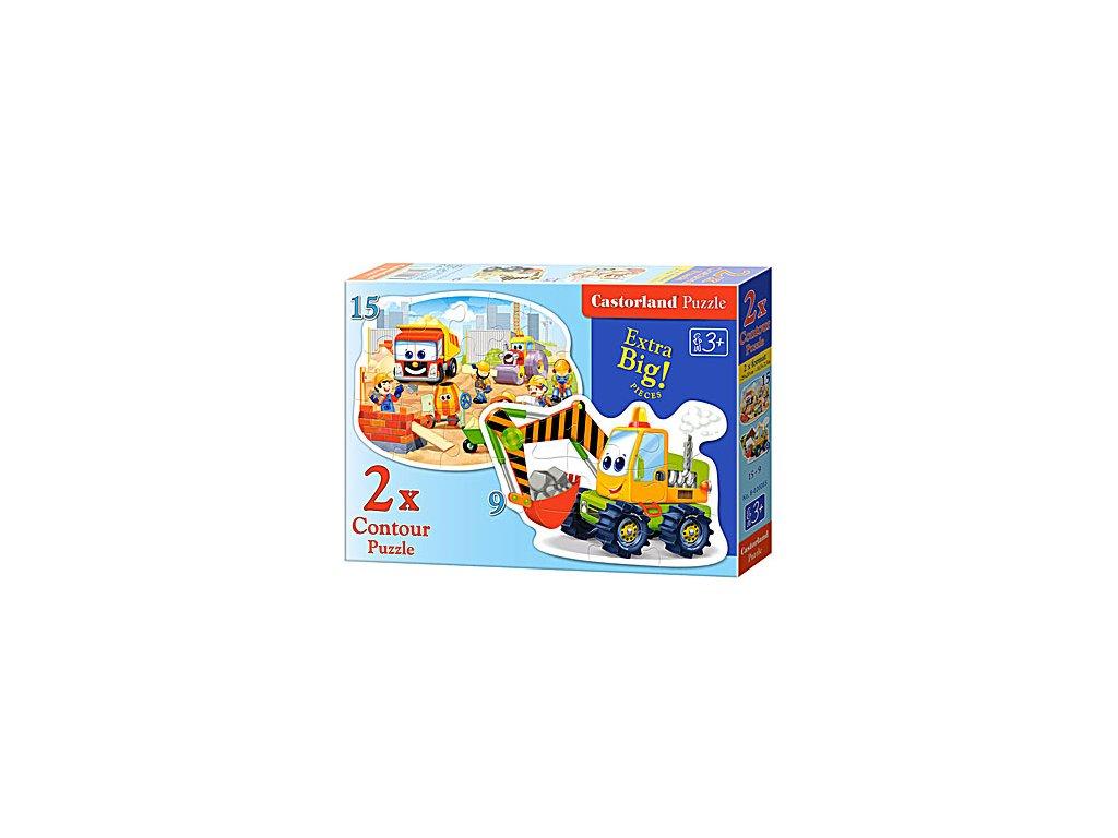 Castorland detské Maxi puzzle Na stavenisku 2v1 sada
