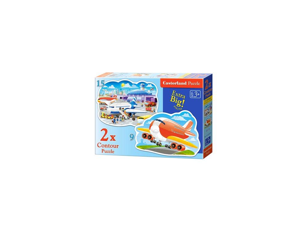 Castorland detské Maxi puzzle Na letisku 2v1 sada
