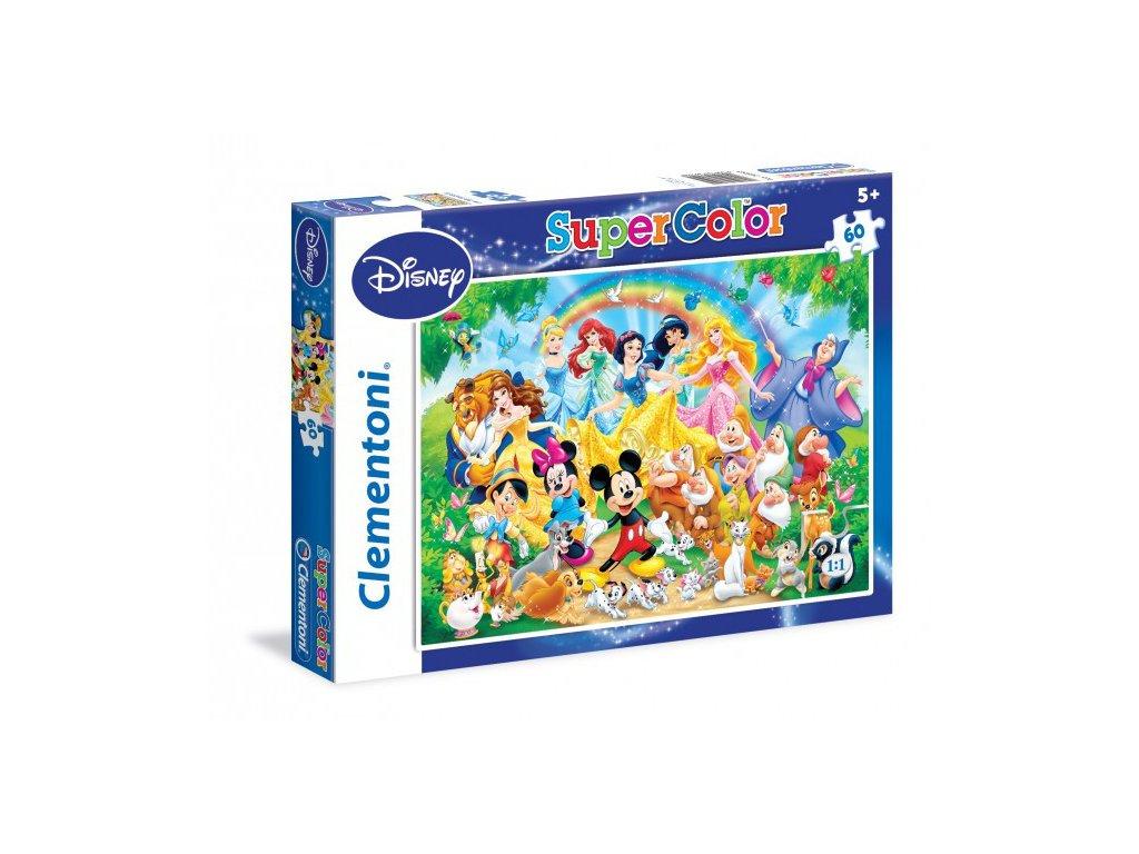 Clementoni SuperColor detské puzzle Disney family 60 dielikov