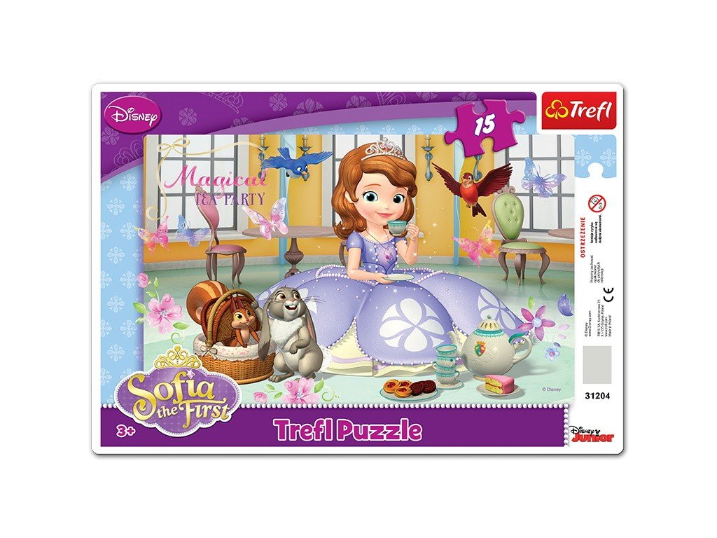 Trefl detské puzzle Sofia Prvá Čajový večierok 15 dielikov