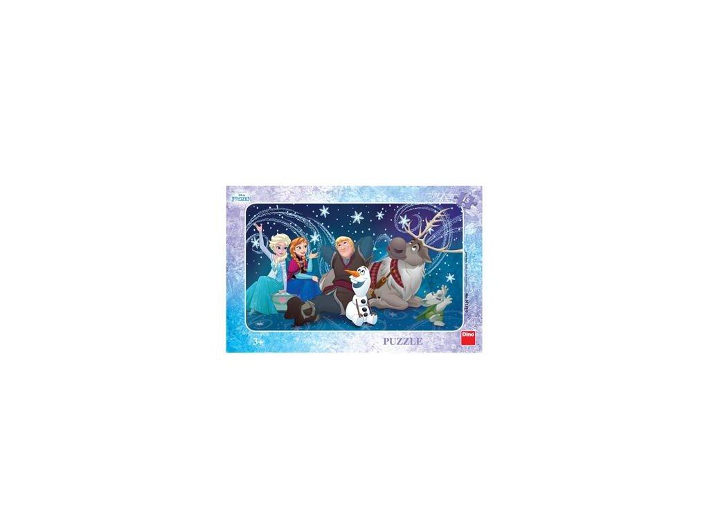 Dino Doskové puzzle Ľadové kráľovstvo 15 dielikov
