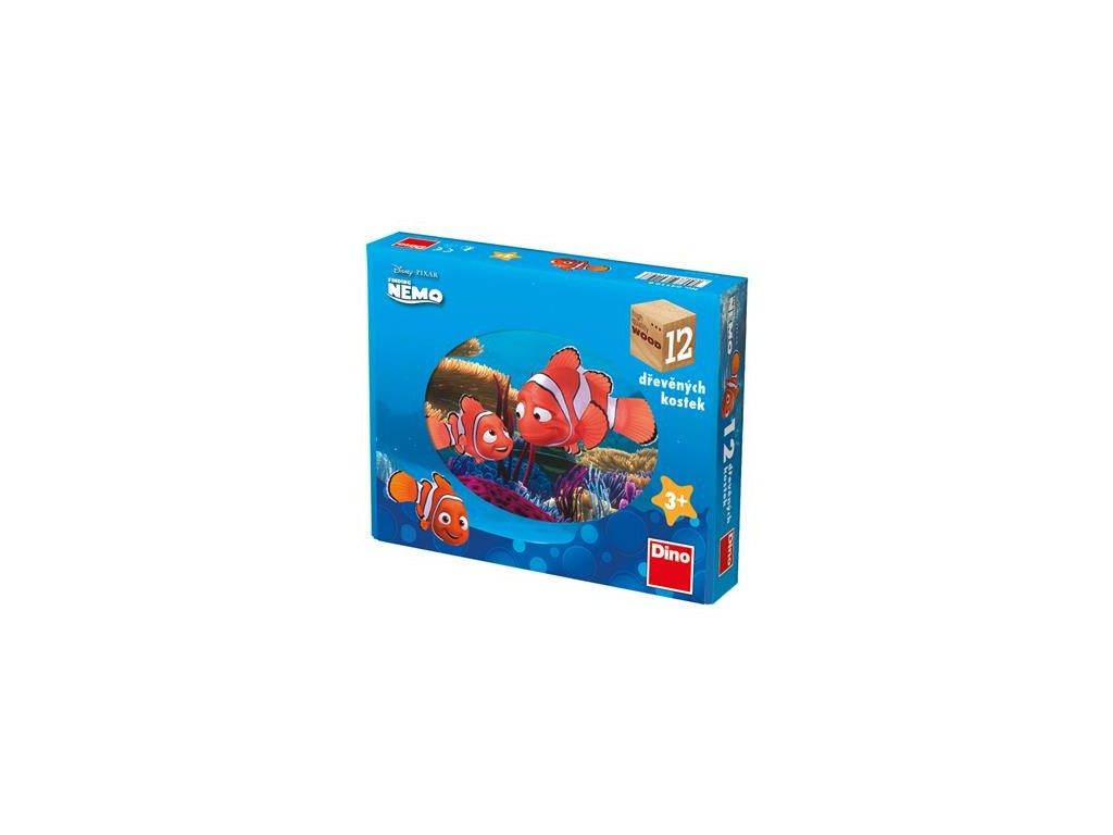 Dino Drevené kocky Nemo - 12 kociek