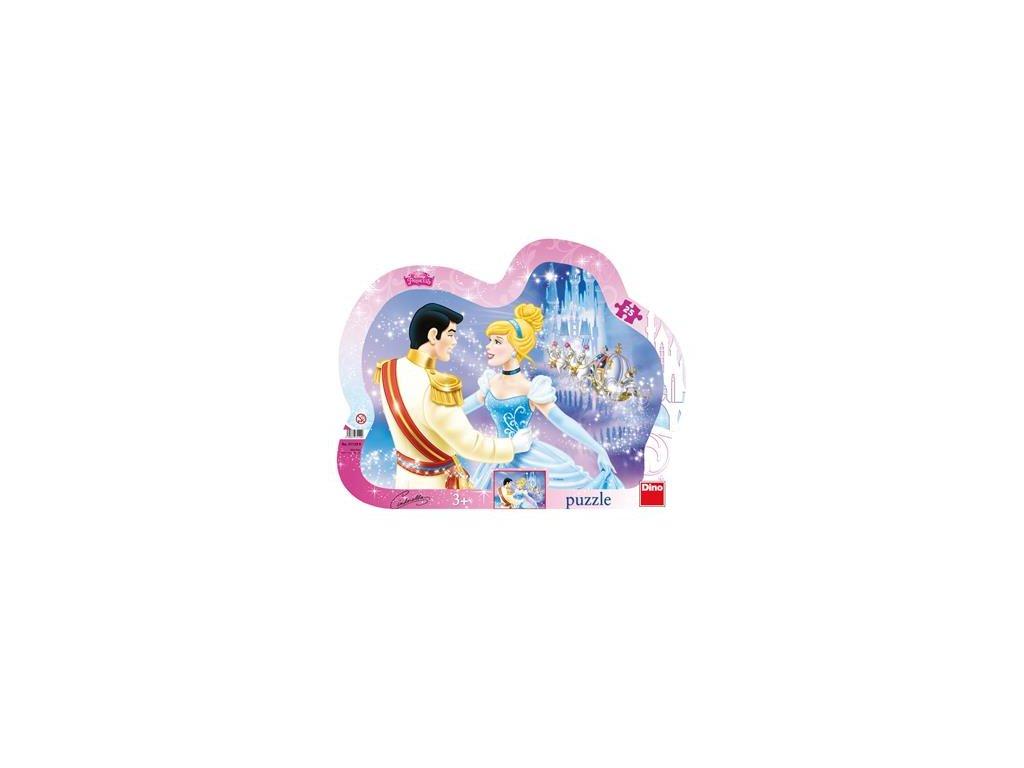 Dino puzzle Zamilovaná Popoluška 25 dielikov - kontúra