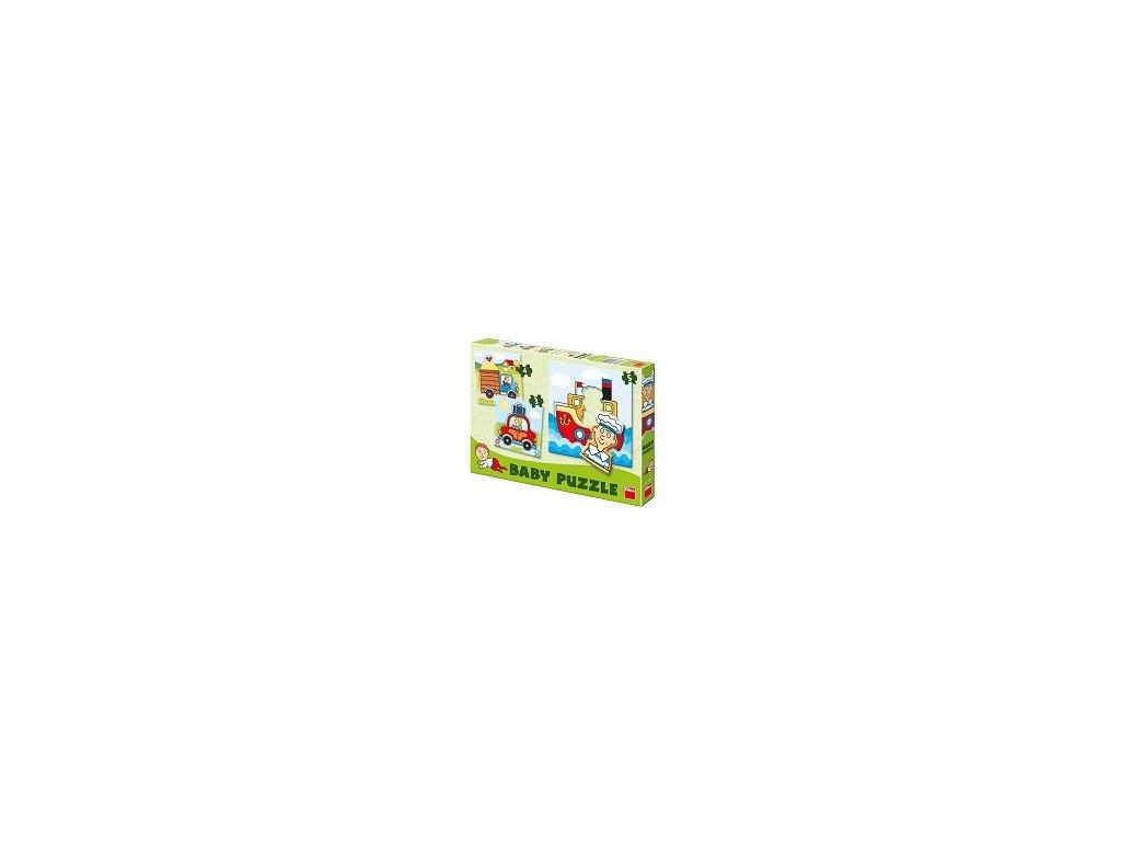 Dino Baby puzzle Dopravné prostriedky 3v1