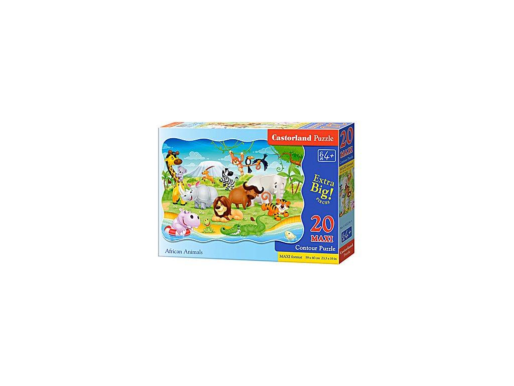 Castorland detské Maxi puzzle Africké zvieratká 20 dielikov