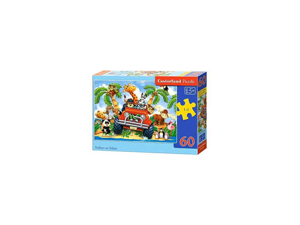 Castorland detské puzzle Safari 60 dielikov