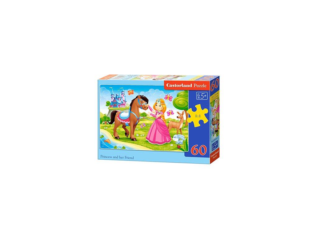 Castorland detské puzzle Princezná s koníkom 60 dielikov