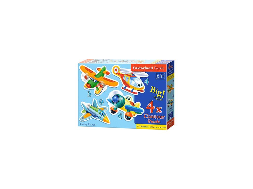 Castorland detské puzzle Lietadlá 4v1 sada