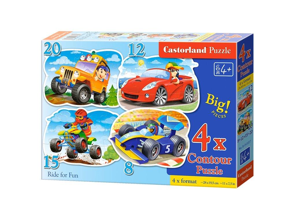 Castorland detské puzzle Štvorkolky 4v1
