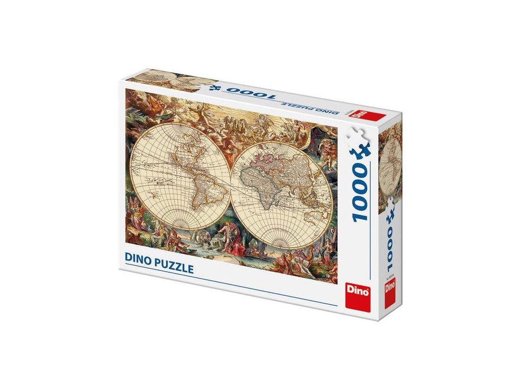 Dino Puzzle Historická Mapa 1000 dielikov