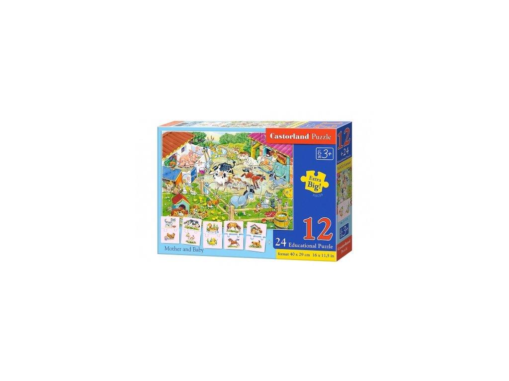 Castorland Edu puzzle - Mamičky a deti