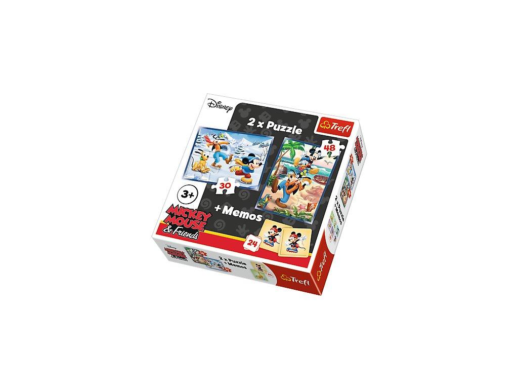 Trefl detské puzzle Mickey Mouse 2x puzzle + memo