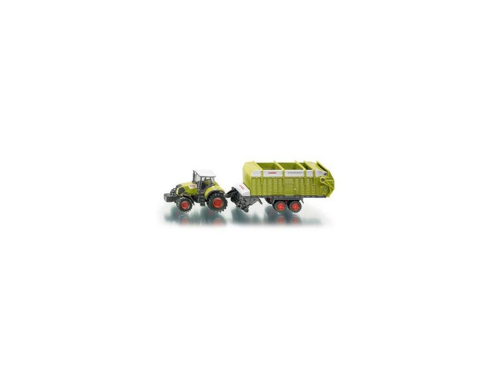 Siku Farmer 1846 Traktor Claas s valníkom 1:87
