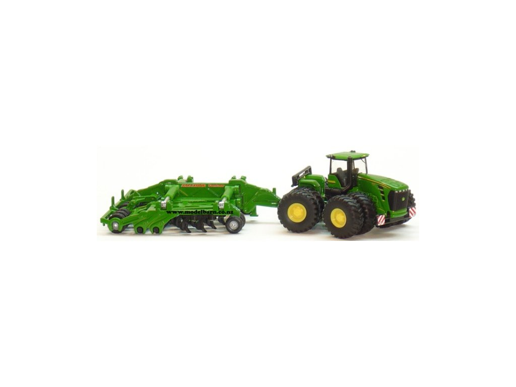 Siku Farmer 1856 Traktor s kutivátorom John Deere 9630 1:87