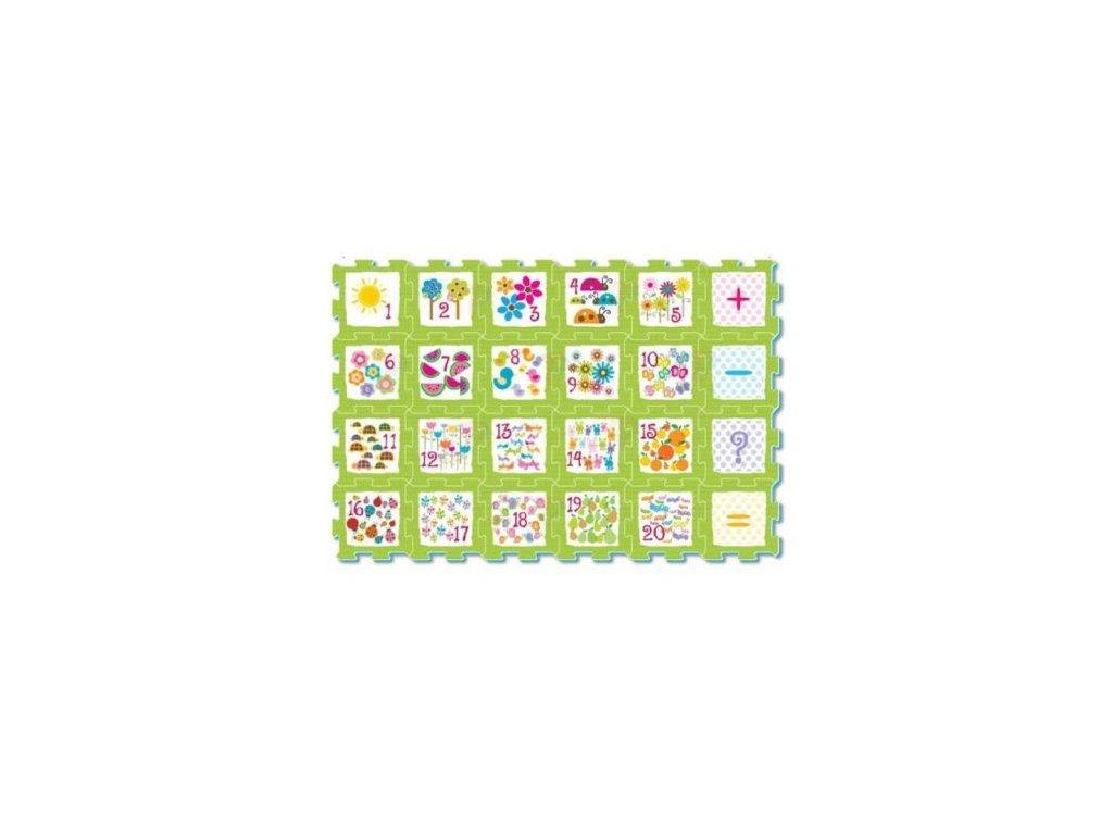 Smily Play Podlahové puzzle Matematika - 24 dielov