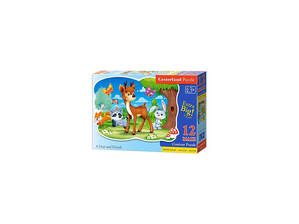 Castorland Detské Maxi Puzzle Jelenček a priatelia 12 dielikov