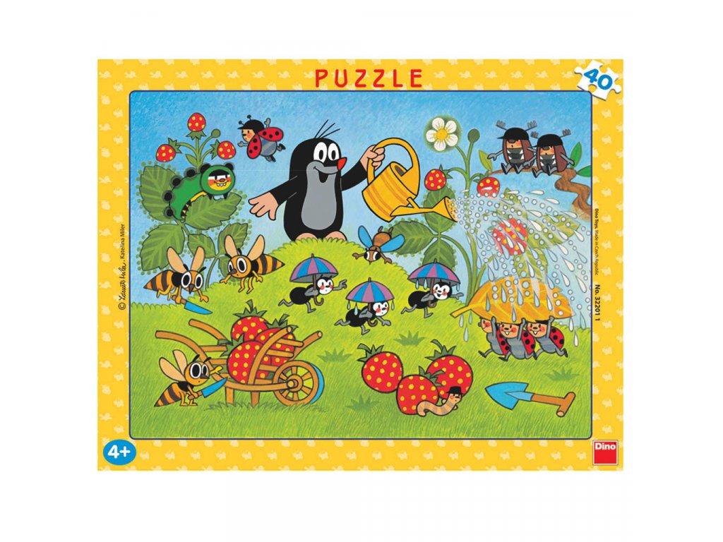 Dino puzzle Krtko v jahodách 40 dielikov