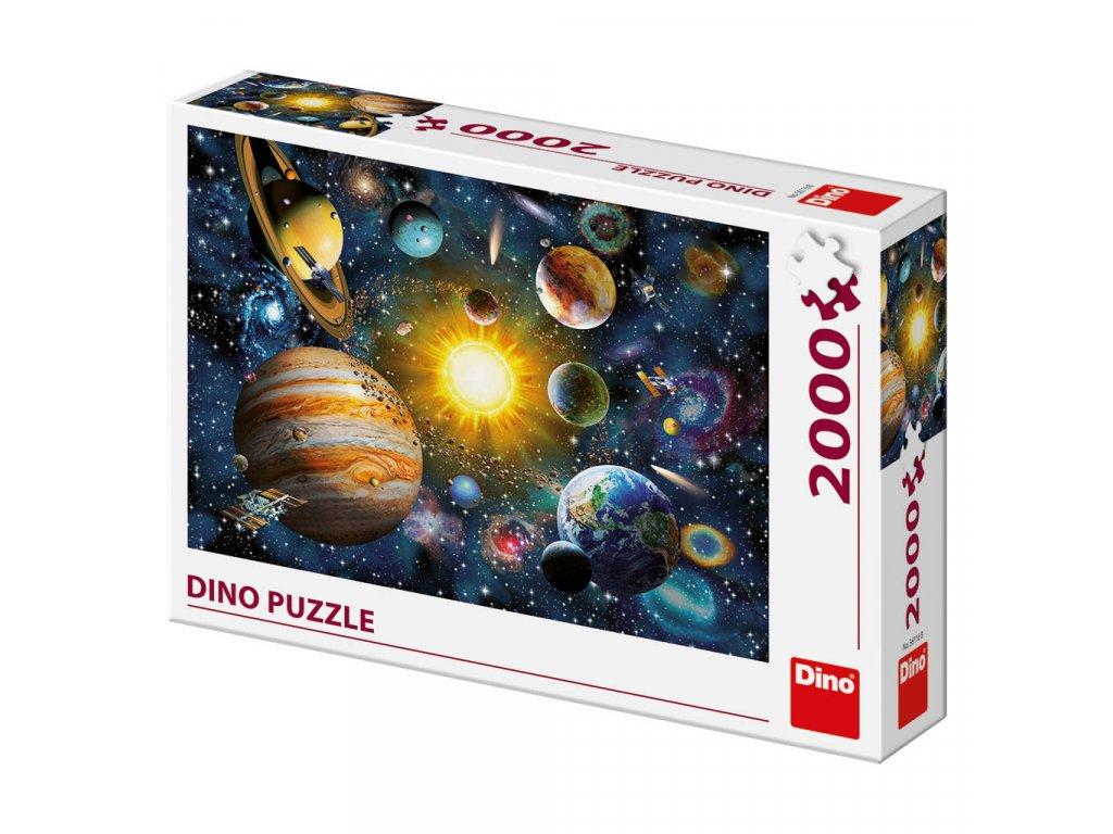 Dino puzzle Slnečná sústava 2000 dielikov