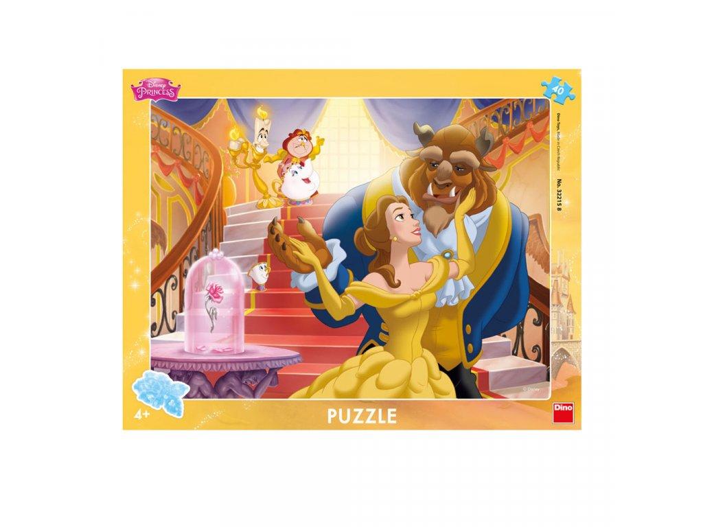Dino puzzle Kráska a Zviera 40 dielikov