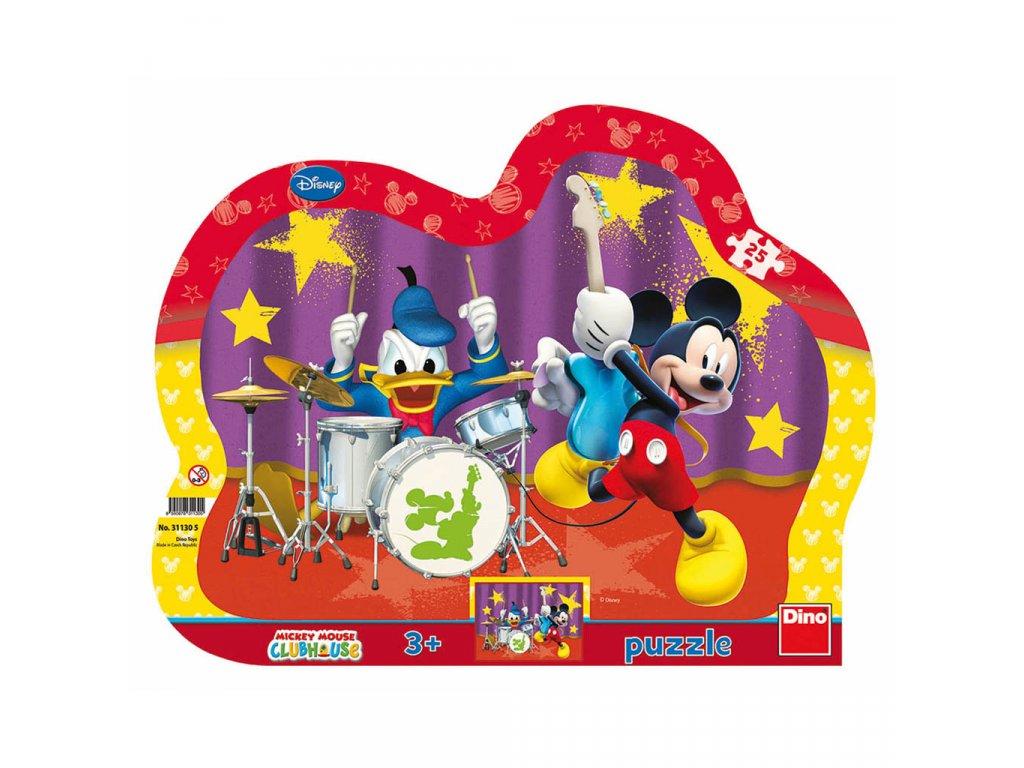 Dino puzzle Mickeyho kapela 25 dielikov - kontúra