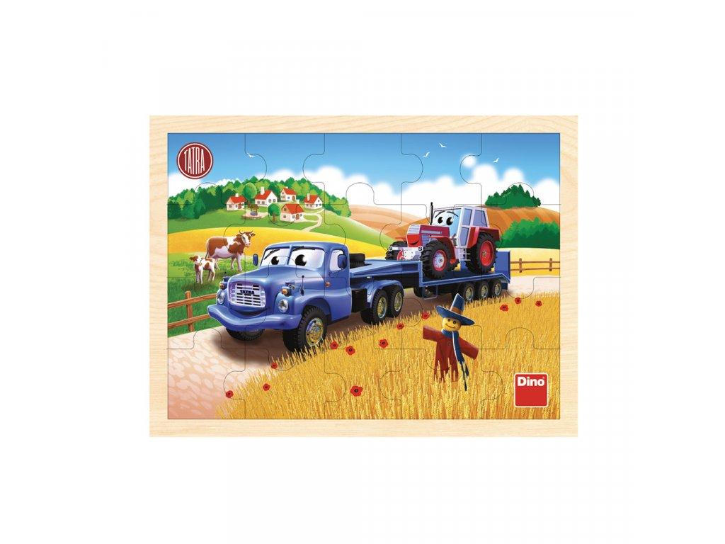 Dino drevené puzzle - Tatra ťahač 20 dielikov