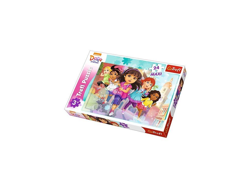 Trefl Maxi puzzle Dora a priatelia 24 dielikov