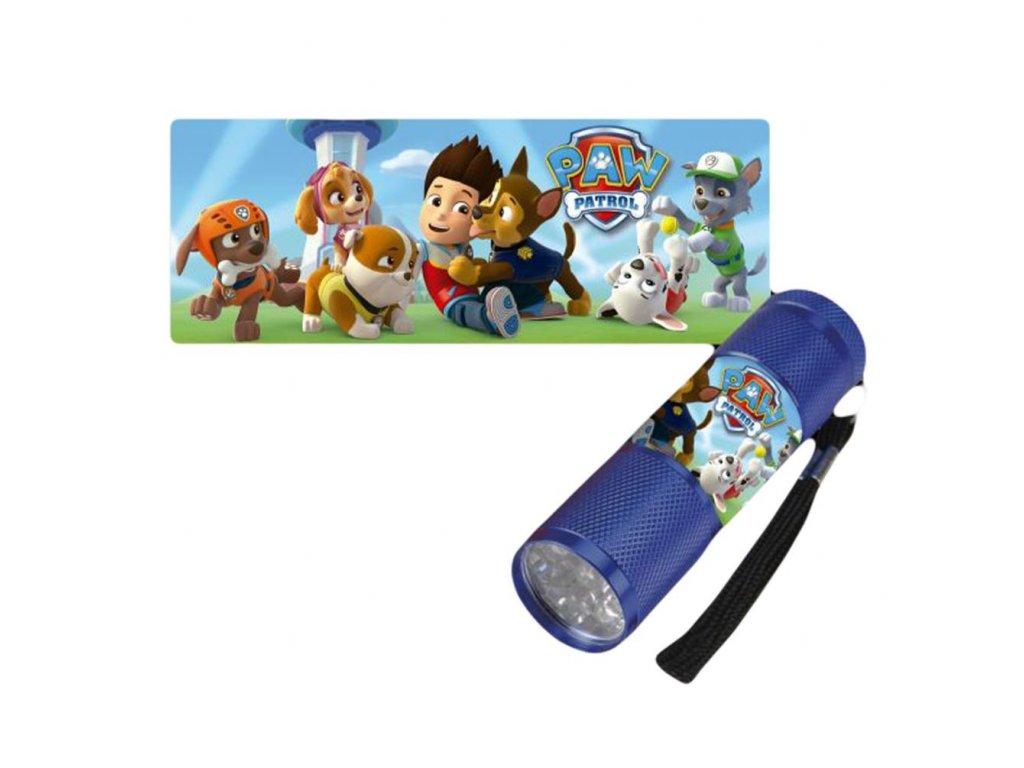 Kids Licensing Detská LED baterka Paw Patrol - Modrá