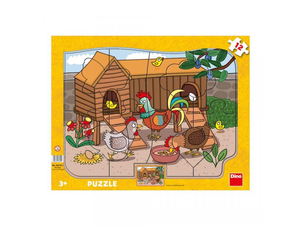 Dino Doskové puzzle Sliepočky 12 dielikov