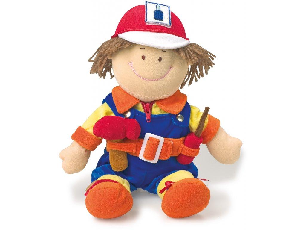 Small Foot - Handrová bábika Opravár 30 cm