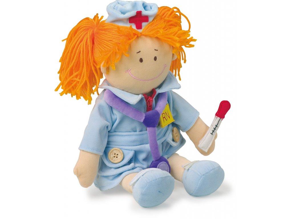 Small Foot - Handrová bábika Zdravotná sestrička 30 cm