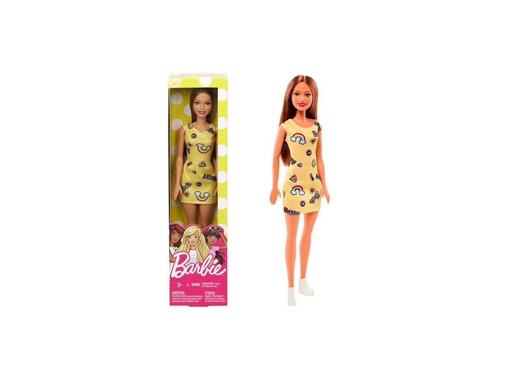 Mattel Barbie Chic Hnedovlasá v žltých šatách