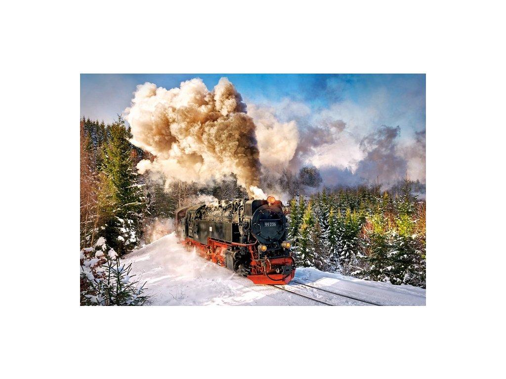 Castorland puzzle Parný vlak 1000 dielikov