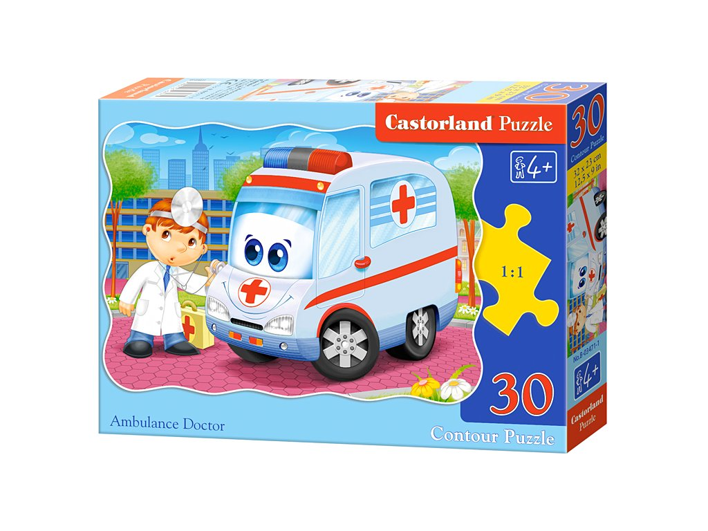 Castorland detské puzzle Sanitka 30 dielikov
