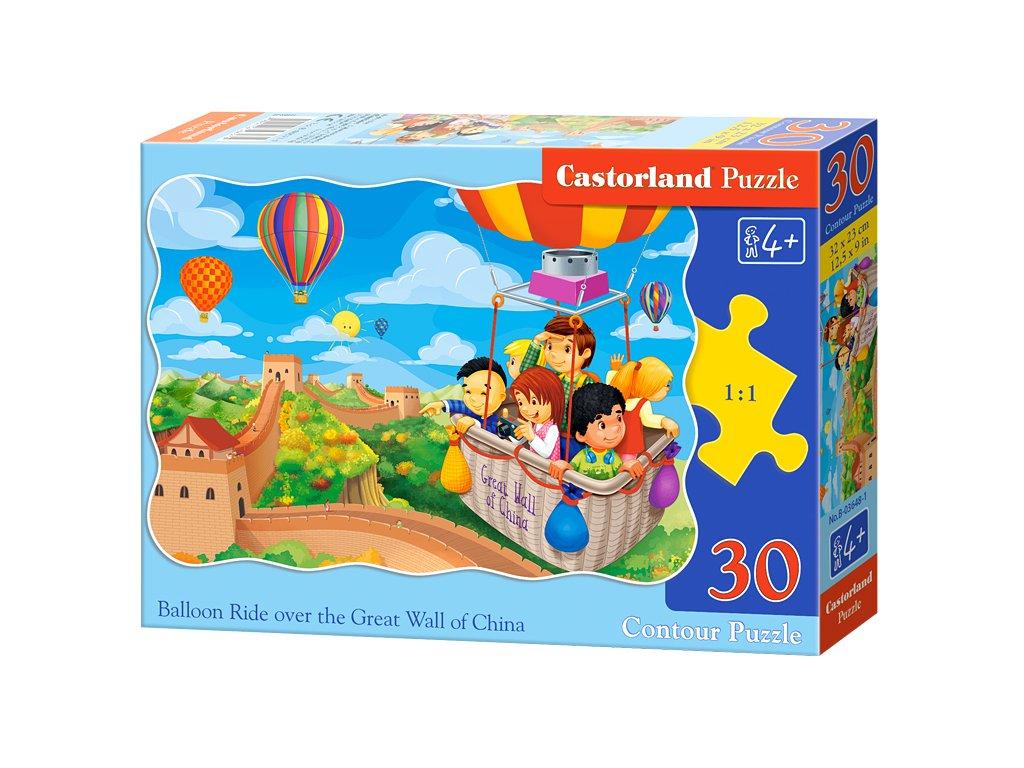 Castorland detské puzzle Výlet v balóne 30 dielikov