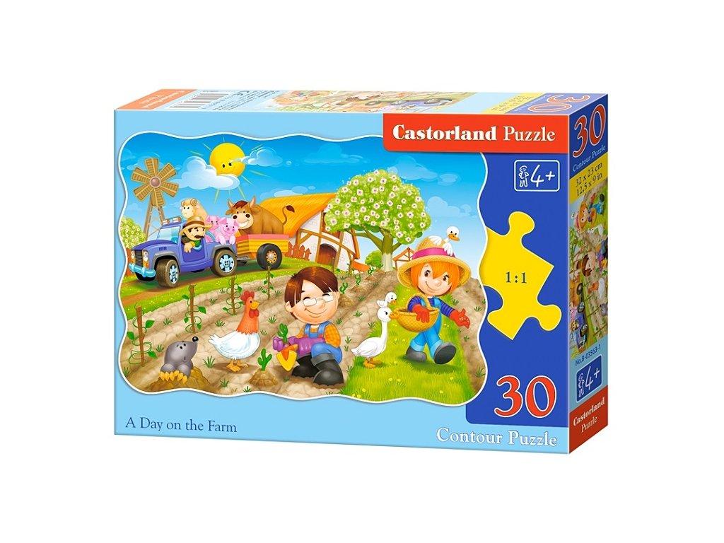 Castorland detské puzzle Deň na farme 30 dielikov