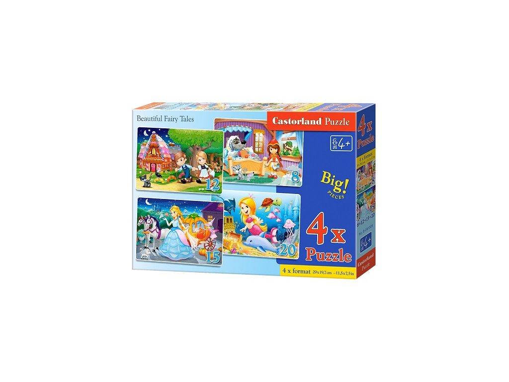 Castorland detské puzzle Rozprávky 4v1