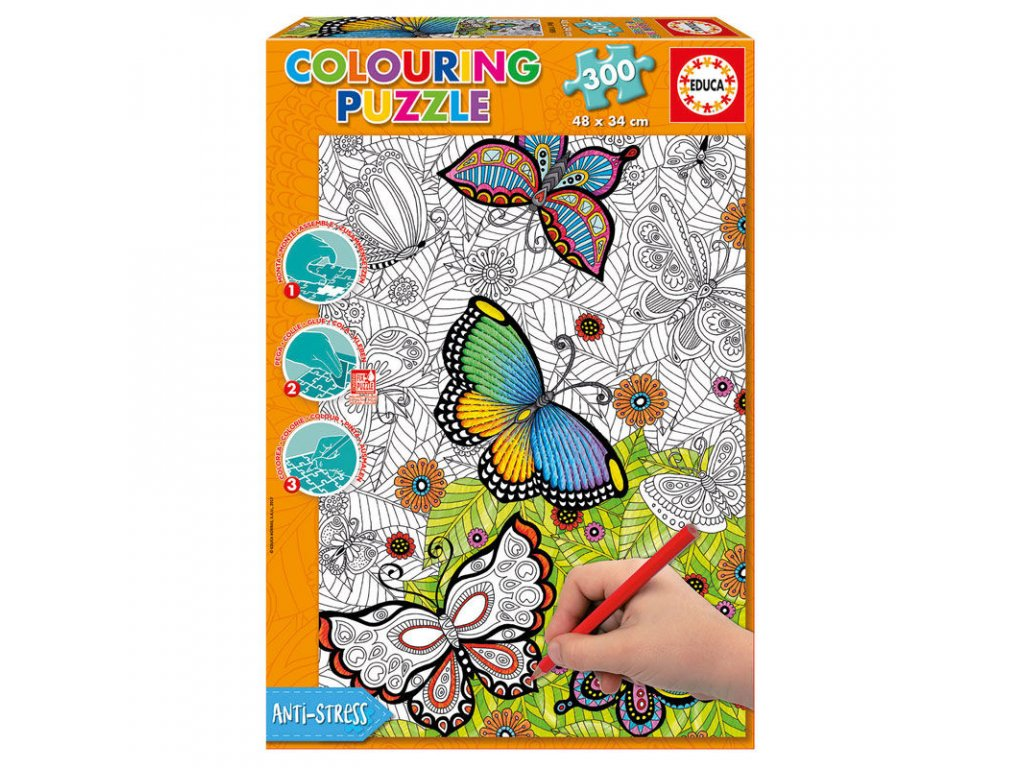 Educa All Good Things are Wild and Free Colouring puzzle 300 dielikov