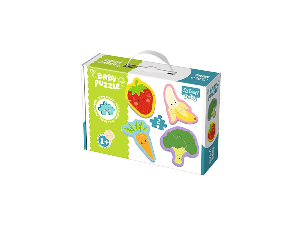 Trefl Baby puzzle Zelenina a ovocie 4v1