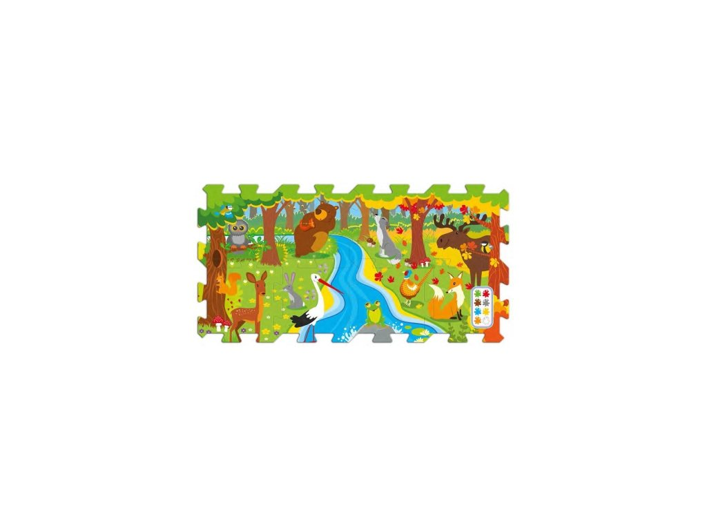 Trefl penové puzzle na podlahu - Les 8 dielikov