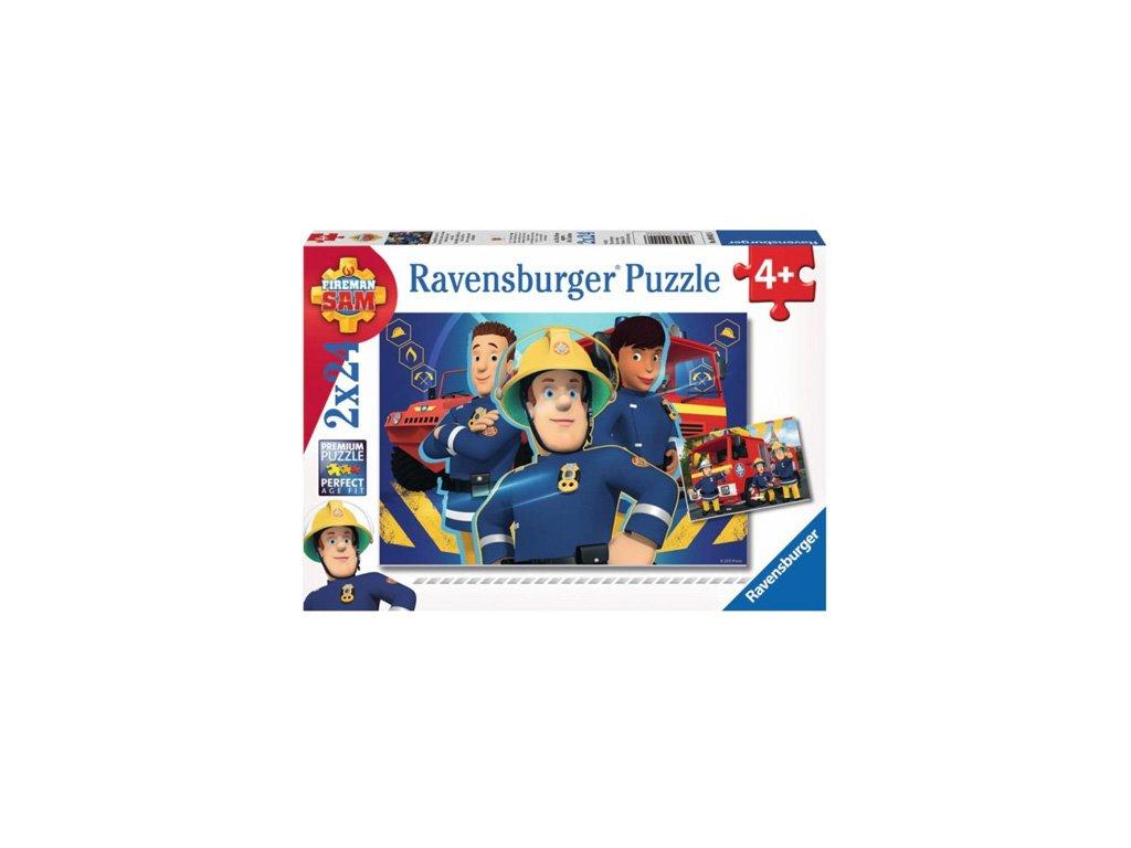 Ravensburger puzzle Požiarnik Sam 2 x 24 dielikov