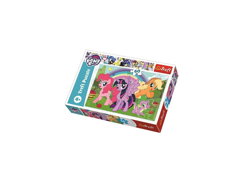 Trefl puzzle My little pony Dúhové priateľstvo 60 dielikov