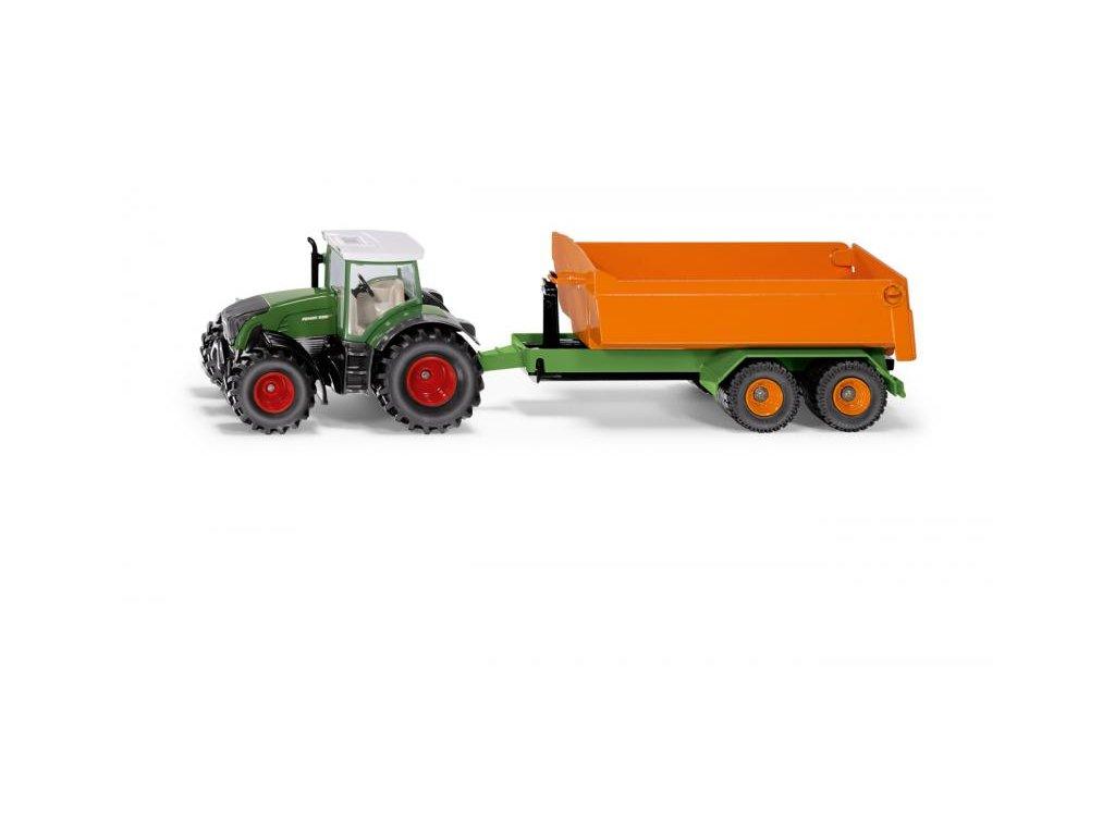 Siku Farmer 1989 Traktor Fendt s vyklápacím prívesom 1:50