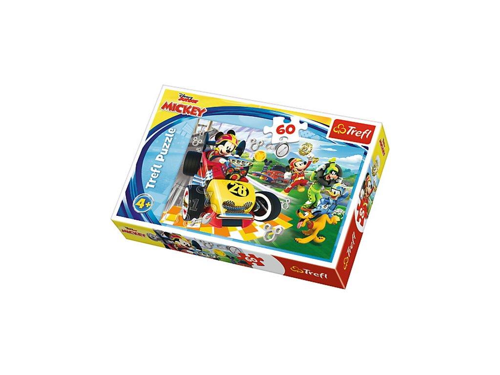 Trefl puzzle Mickey a závodníci 60 dielikov
