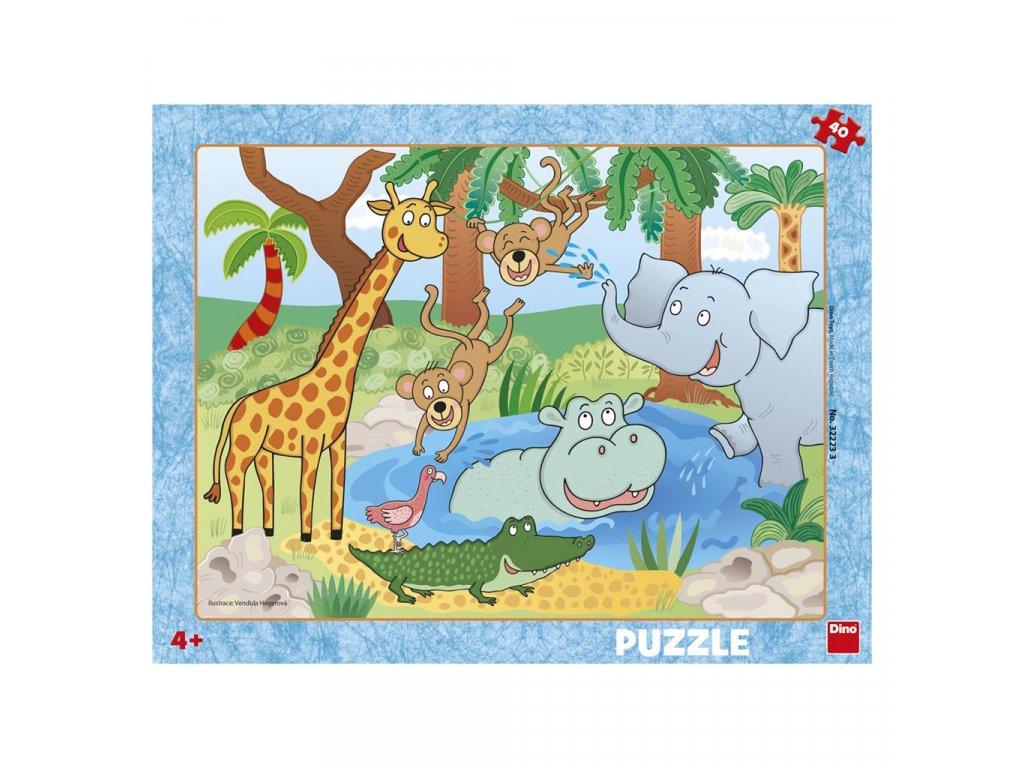 Dino doskové puzzle Zvieratká V ZOO 40 dielikov