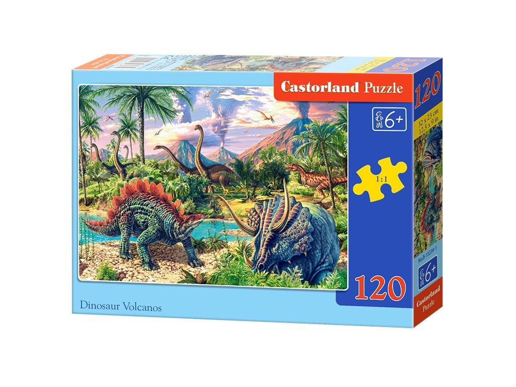 Castorland puzzle Svet dinosaurov 120 dielikov