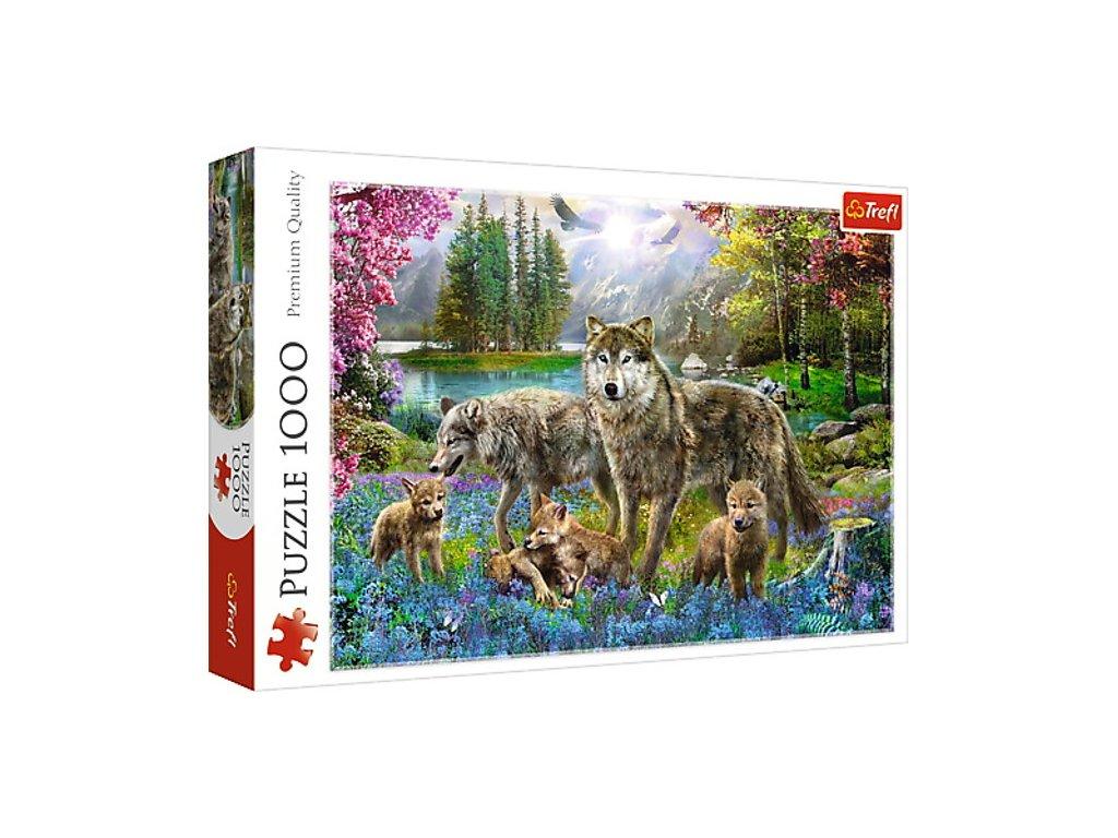 Trefl puzzle Vlčia rodinka 1000 dielikov
