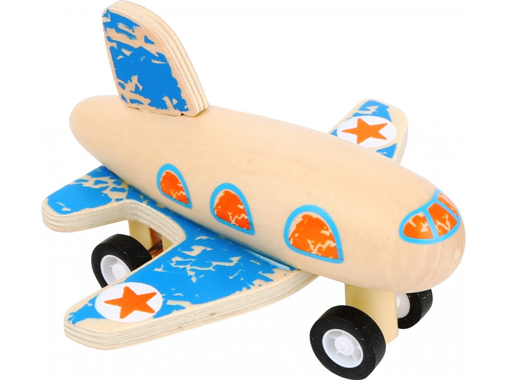 Small Foot Modré lietadlo na natiahnutie