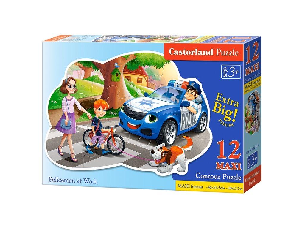 Castorland puzzle Policajt v práci 12 dielikov